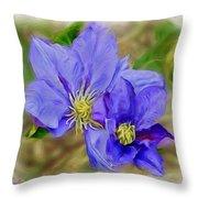 Lavendar Blue Throw Pillow