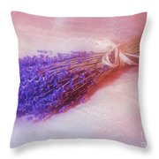Lavender - Lace - And Memories Throw Pillow