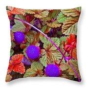 Lavender Berry Throw Pillow