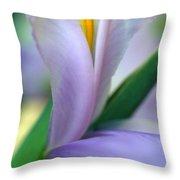 Lavender Iris Throw Pillow by Kathy Yates