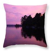 Lavender Lake Throw Pillow