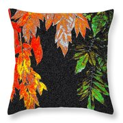 Lavish Leaves 5 Throw Pillow
