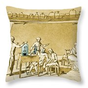 Lavoisier Experimenting Throw Pillow
