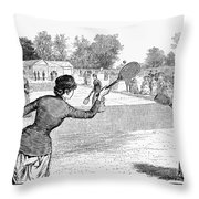 Lawn Tennis, 1883 Throw Pillow