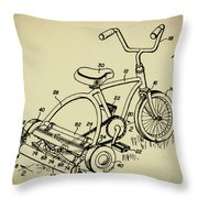 Lawnmower Tricycle Patent Throw Pillow