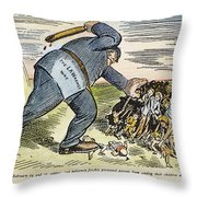 Lawrence Strike, 1912 Throw Pillow by Granger