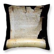 Lawsuit Of The Cathedral Chapter Of Calahorra. Pleito Del Cabildo Catedralicio De Calahorra Throw Pillow