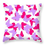 Layered Butterflies  Throw Pillow by Louisa Knight