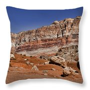 Layered Cliffs Throw Pillow