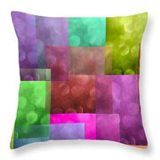 Layered Tiles Abstract Throw Pillow