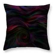 Layers Of Lies In The Dark Throw Pillow