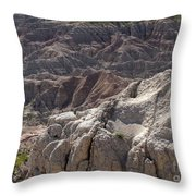 Layers Of Rock In The Badlands Throw Pillow