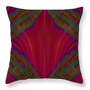 Layers Of The Flame Throw Pillow