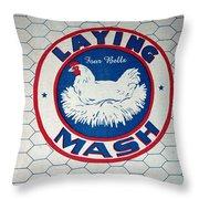 Laying Mash Throw Pillow
