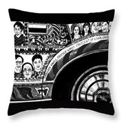 Le Car In Black And White Throw Pillow