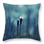 Le Centre De L Attention - Blue S0203d Throw Pillow by Variance Collections