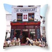 Le Consulat Cafe  Throw Pillow