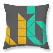 Le Corbusier Quote Poster Throw Pillow