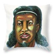 Le Negus Menelik II Throw Pillow