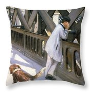 Le Pont De L'europe Throw Pillow