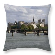 Le Pont Des Arts. Paris. France Throw Pillow by Bernard Jaubert