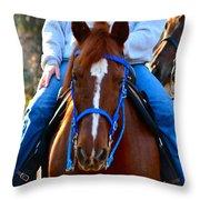 Lead Horse Throw Pillow