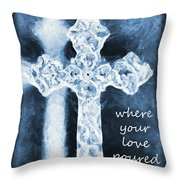 Lead Me To The Cross With Lyrics Throw Pillow