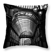 Leadenhall Market Black And White Throw Pillow