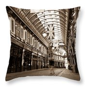 Leadenhall Market London With  Throw Pillow