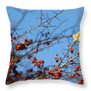 Leaf Among Thorns Throw Pillow