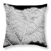 Leaf Design- Black And White Throw Pillow