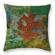Leaf Life 01 - Green 01b2 Throw Pillow