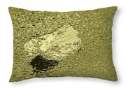 Leaf Mytallique Throw Pillow