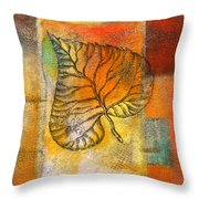 Leaf Whisper 4 Throw Pillow