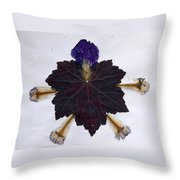 Leaf With Petals Throw Pillow