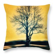Leafless Tree Throw Pillow