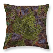Leafy Goodness Throw Pillow