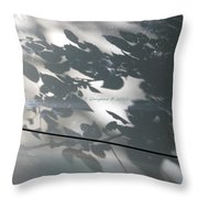 Leafy Silhoutte Throw Pillow