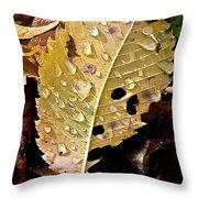 Leafy Tears Throw Pillow