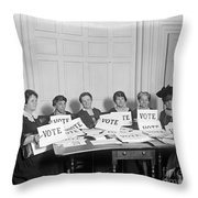 League Of Women Voters Throw Pillow