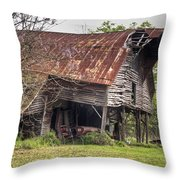 Leaning Barn 2 Throw Pillow