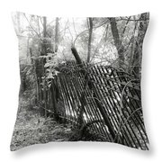 Leaning Fence Throw Pillow