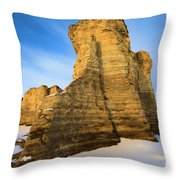 Learn Tower Of Monument Rocks Throw Pillow