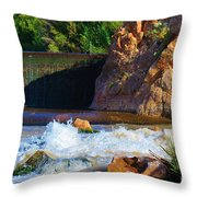 Leasburg Dam New Mexico Throw Pillow
