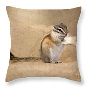 Least Chipmunk Throw Pillow