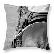 Leather Chaps Throw Pillow
