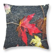 Leave The Leaves Throw Pillow
