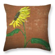Leavenworth Sunflower  Throw Pillow