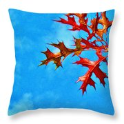 Leaves Against The Sky Throw Pillow