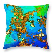 Leaves In A Pond Throw Pillow